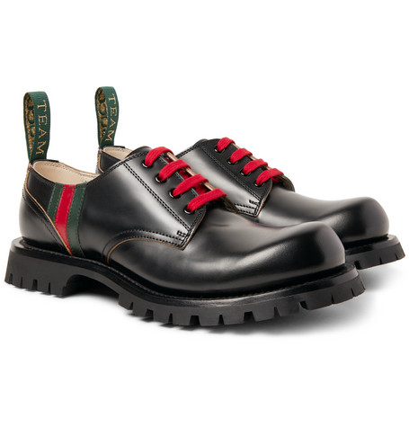 Arley Leather Derby Shoes - Black