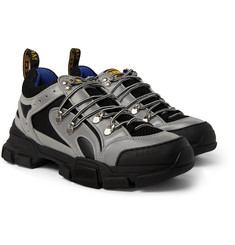Gucci - Flashtrek Reflective Rubber, Leather and Mesh Sneakers