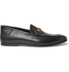 c1e2940138e Gucci Brixton Horsebit Collapsible-Heel Leather Loafers