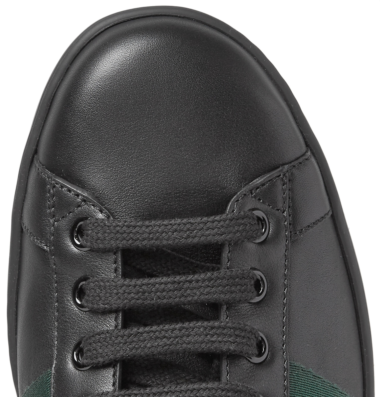 5e9adf80309 Gucci - Ace Snake-Trimmed Leather Sneakers