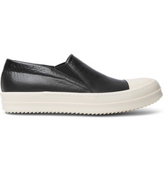 Rick Owens Boat Leather Slip-On Sneakers