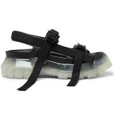 Rick Owens Tractor Webbing-Trimmed Leather Sandals