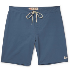 Mollusk Pennant Long-Length Cotton-Blend Swim Shorts