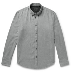 rag & bone Fit 2 Tomlin Button-Down Collar Cotton and Linen-Blend Twill Shirt