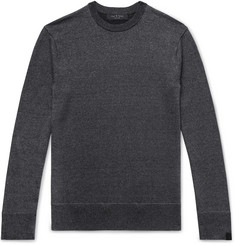 rag & bone Dean Mélange Merino Wool, Linen and Cotton-Blend Sweater