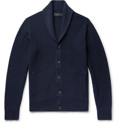 rag & bone - Cardiff Shawl-Collar Merino Wool and Cotton-Blend Cardigan