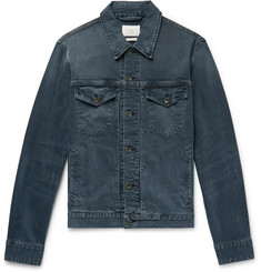 rag & bone Definitive Indigo-Washed Denim Trucker Jacket