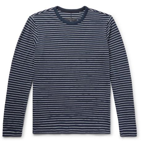 Striped Cotton Blend T Shirt by Rag & Bone