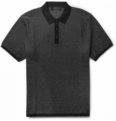 rag & bone Finn Cotton and Nylon-Blend Polo Shirt