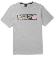PS by Paul Smith Printed Mélange Cotton-Jersey T-Shirt