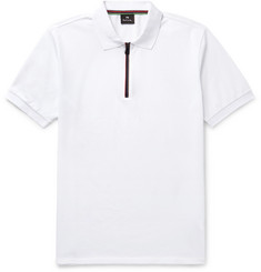 PS by Paul Smith Zip-Fastening Cotton-Piqué Polo Shirt