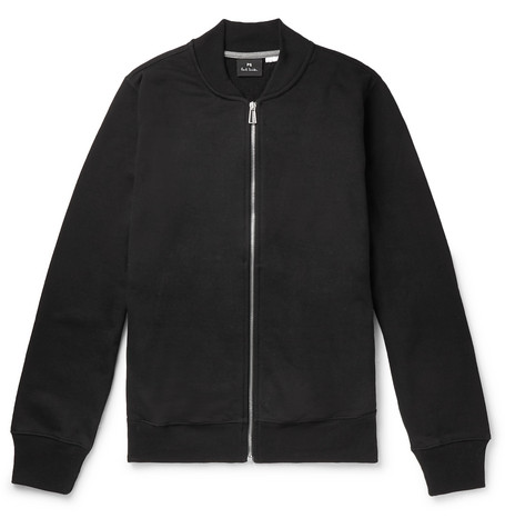 Organic Loopback Cotton Jersey Bomber Jacket by Ps By Paul Smith