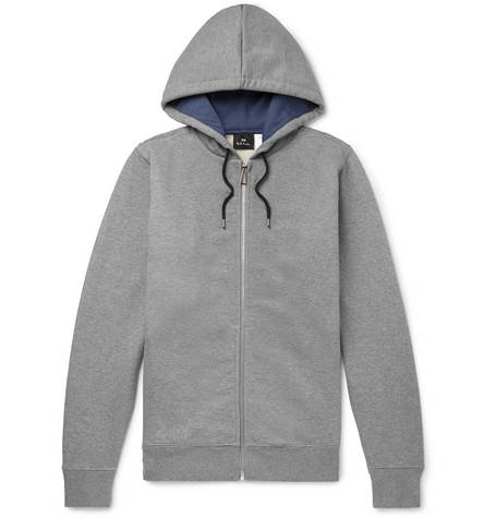e8239d0f7 PS Paul Smith - Organic Loopback Cotton-Jersey Zip-Up Hoodie