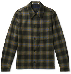 PS by Paul Smith Checked Wool-Blend Shirt Jacket