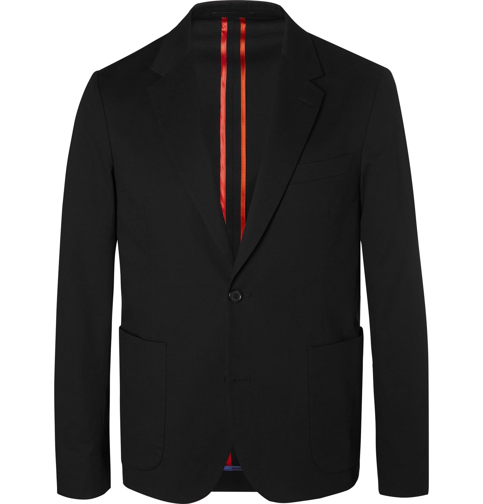 4a350585ac2 PS Paul Smith - Black Slim-Fit Unstructured Stretch-Cotton Blazer