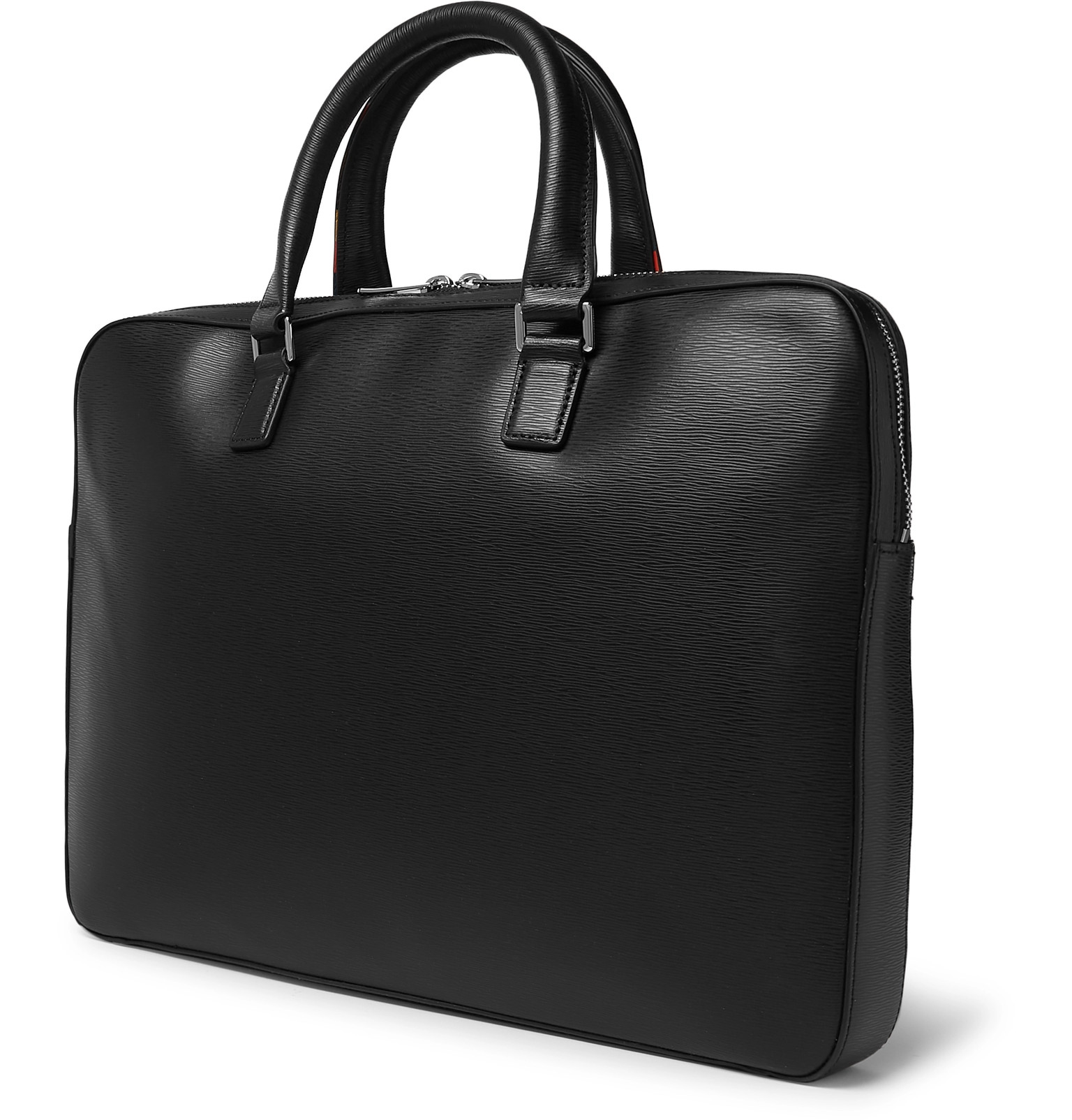 Tipped Textured Paul Contrast Briefcase Smith Leather URYgE