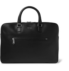 Paul Smith - Contrast-Tipped Textured-Leather Briefcase
