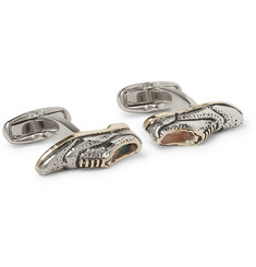 Paul Smith - Brogue Enamelled Silver and Gold-Tone Cufflinks