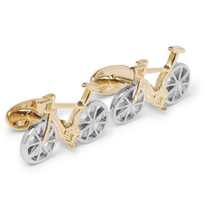 Paul Smith Bike Gold and Silver-Tone Cufflinks