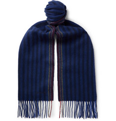 Paul Smith - Fringed Striped Wool and Cashmere-Blend Scarf