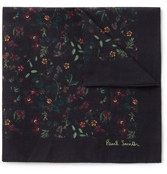 Paul Smith Floral-Print Cotton-Voile Pocket Square