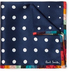 Paul Smith Polka-Dot Silk Pocket Square
