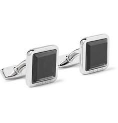 Jess Stainless Steel And Enamel Cufflinks - Silver