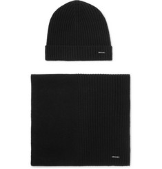 Hugo Boss - Ribbed Cashmere Beanie and Scarf Set