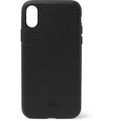 Hugo Boss Crosstown Full-Grain Leather iPhone X Case