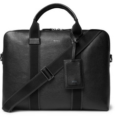 Hugo Boss Timeless Cross-Grain Leather Briefcase