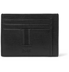Hugo Boss - Timeless Cross-Grain Leather Cardholder