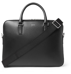 Hugo Boss Cross-Grain Leather Briefcase