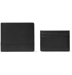 Hugo Boss Leather Cardholder and Billfold Wallet Set
