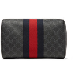 Gucci - Monogrammed Coated-Canvas Wash Bag