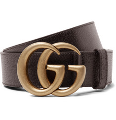 Gucci 4cm Dark-Brown Full-Grain Leather Belt