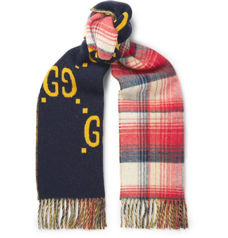 Gucci – Reversible Wool Scarf – Blue