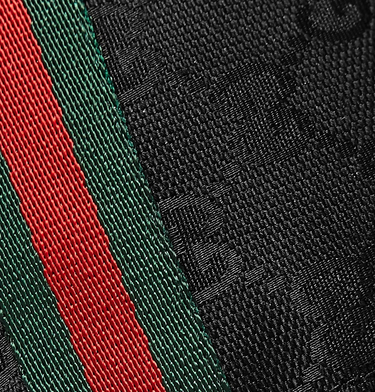 b6832ec1d41939 Gucci - Webbing-Trimmed Monogrammed Canvas Baseball Cap