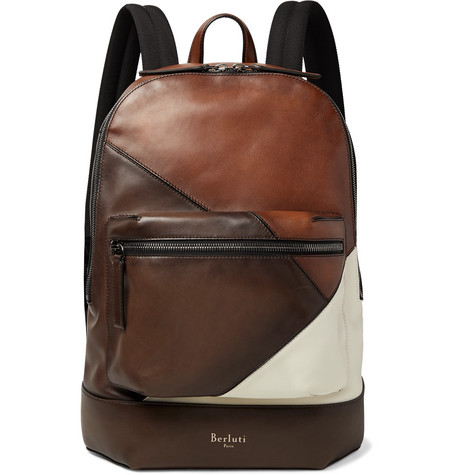 Volume Patchwork Leather Backpack by Berluti