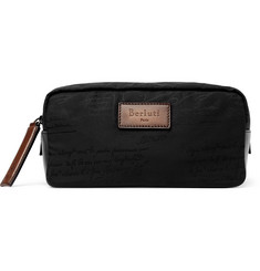 Berluti - Scritto Leather-Trimmed Nylon Wash Bag