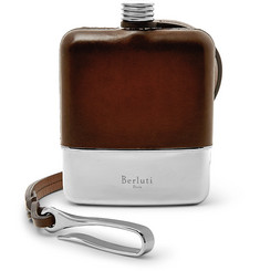 Berluti - Venezia Leather and Sterling Silver Flask