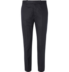 Berluti - Navy Slim-Fit Cotton and Linen-Blend Twill Suit Trousers
