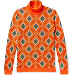 Gucci Wool-Blend Jacquard Rollneck Sweater