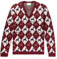 Gucci Wool-Jacquard Sweater