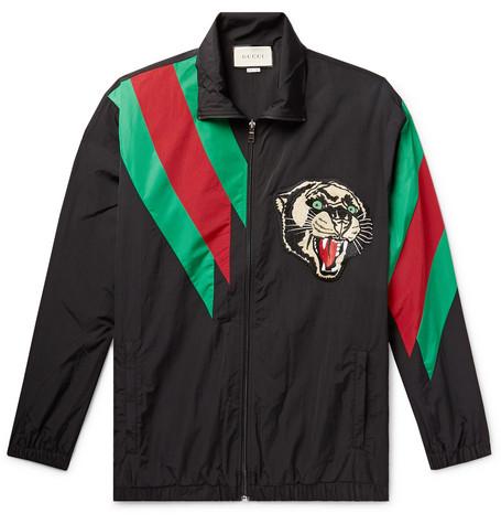 Appliquéd Shell Jacket by Gucci