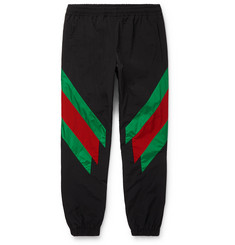 Gucci Tapered Striped Shell Trousers