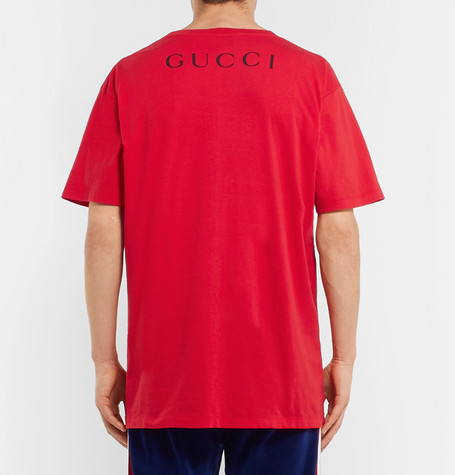 4538cc2bc7a Gucci Oversize T-Shirt With Billy Idol Print In Red