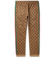 Gucci Webbing-Trimmed Logo-Print Jersey Track Pants