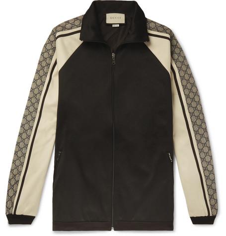 75bc3d5ef Gucci - Logo Striped Tech-Jersey Track Jacket