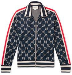 Gucci - Striped Logo-Intarsia Cotton Track Jacket