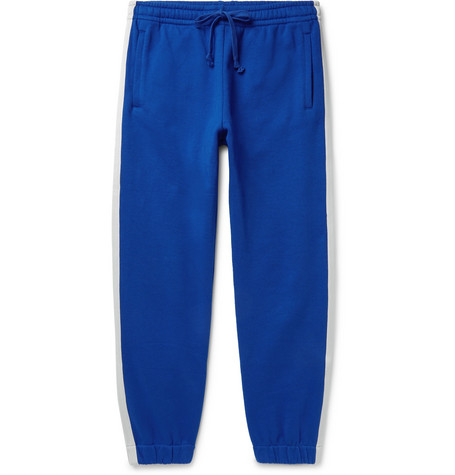 Gucci Webbing-Trimmed Loopback Cotton-Jersey Sweatpants